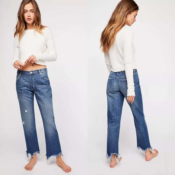 FREE PEOPLE We The Free Maggie Straight-Leg Jeans